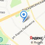 Меридиан на карте Архангельска