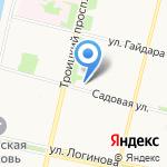 Прокуратура г. Архангельска на карте Архангельска