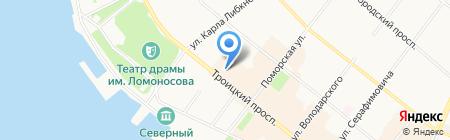 Сигма на карте Архангельска