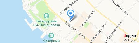 Гранд При на карте Архангельска