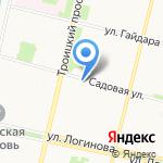 Рыбак на карте Архангельска