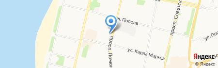 Всероссийское общество слепых на карте Архангельска