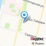 Региональный техникум экономики и права на карте Архангельска