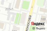 Схема проезда до компании Йога Boreal в Архангельске