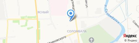 Линда 2 на карте Архангельска
