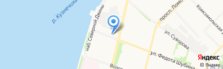 Баренц на карте Архангельска