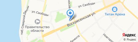 1001 ТУР на карте Архангельска