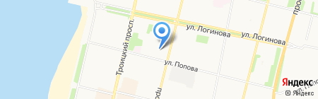 Дэнас на карте Архангельска