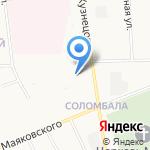 Мозайка на карте Архангельска