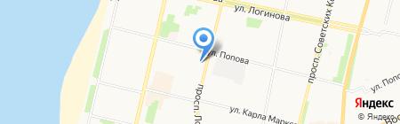 Приморский районный суд на карте Архангельска