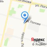 Исакогорский районный суд на карте Архангельска