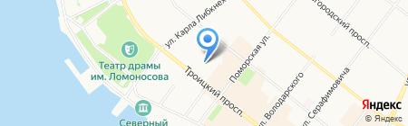 ЭСМ на карте Архангельска