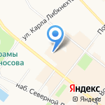 Коралловый клуб на карте Архангельска