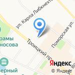 Норд Стрим на карте Архангельска