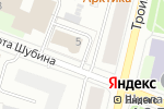 Схема проезда до компании Баренц в Архангельске