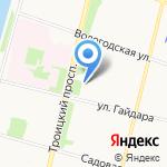 Салон мадам Соловьевой на карте Архангельска