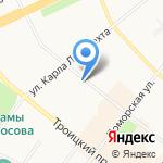 Северный Форт на карте Архангельска