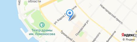 Первая Студия на карте Архангельска