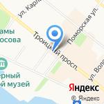 Любимчик на карте Архангельска