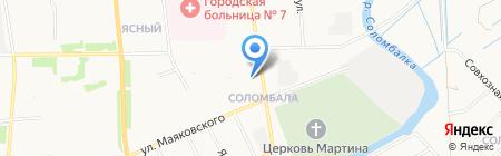 Продовольственный магазин на ул. Маяковского на карте Архангельска