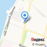 Милон на карте Архангельска
