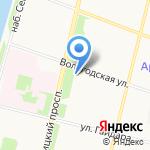 Дионис на карте Архангельска