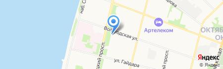Магистр на карте Архангельска