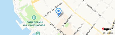 Территориальный фонд обязательного медицинского страхования Архангельской области на карте Архангельска