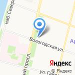 Мастерская по изготовлению ключей и ремонту обуви на карте Архангельска