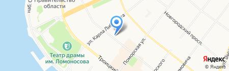 Севрыбвод на карте Архангельска
