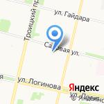 Динамо на карте Архангельска