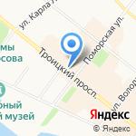 Малыш и мамочка на карте Архангельска