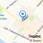 Светлана на карте Архангельска