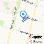 Авангард-строй А на карте Архангельска