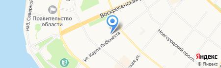 Дента-люкс на карте Архангельска