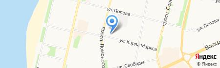 Квадр на карте Архангельска
