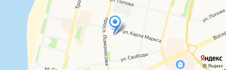 Архангельский областной суд на карте Архангельска