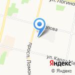 Милана на карте Архангельска