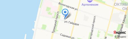 Долг на карте Архангельска