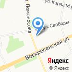 Свет А на карте Архангельска