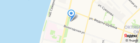 Пластика на карте Архангельска