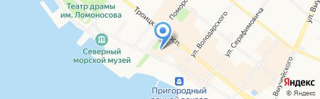 Л`Этуаль на карте Архангельска