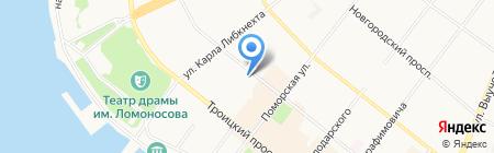 Касание ангела на карте Архангельска