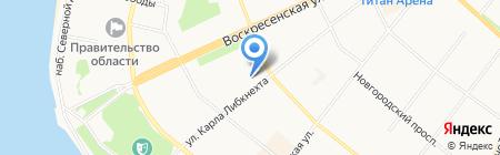 Севдорстройсервис на карте Архангельска