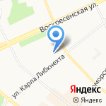 Утеха на карте Архангельска