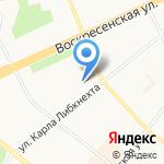 Промсервис на карте Архангельска