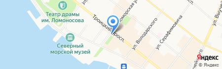 Колосок на карте Архангельска