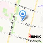 Визави на карте Архангельска