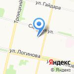 Магазин рыбной продукции на карте Архангельска