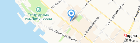 Нотариус Красавина Е.С. на карте Архангельска